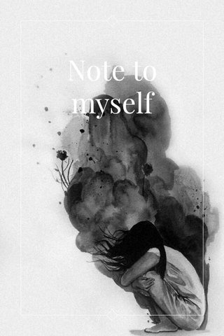 Note to myself