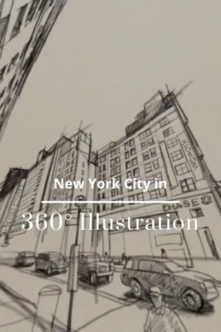 360° Illustration New York City in