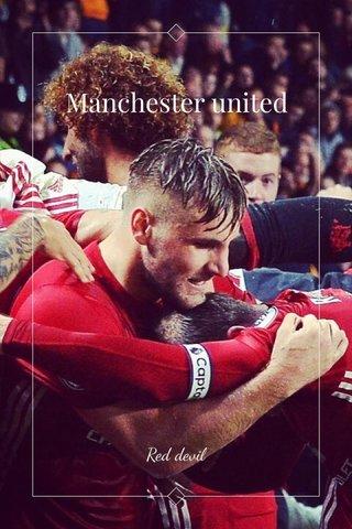 Manchester united Red devil