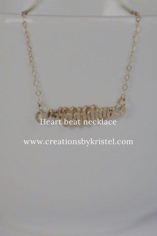 Heart beat necklace www.creationsbykristel.com