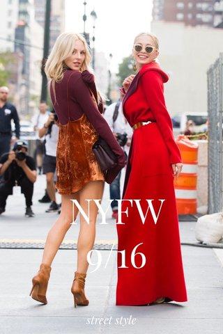 NYFW 9/16 street style