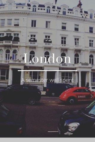 London A semester well spent