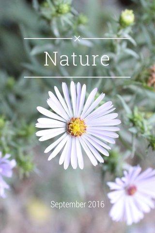 Nature September 2016