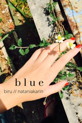 blue biru // nataniakarin