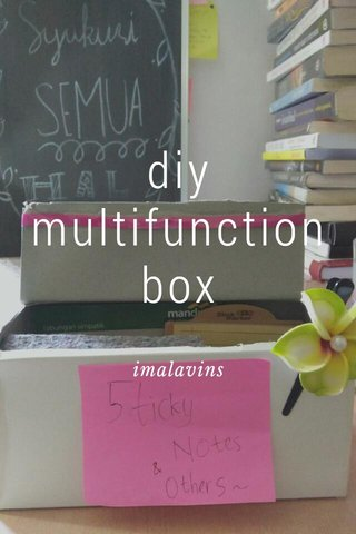 diy multifunction box imalavins