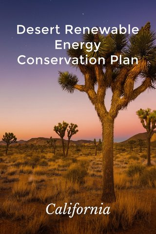 Desert Renewable Energy Conservation Plan California