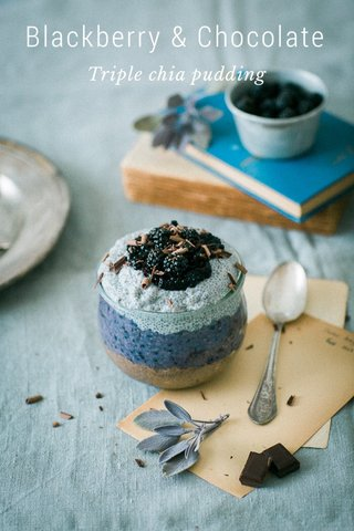 Blackberry & Chocolate Triple chia pudding