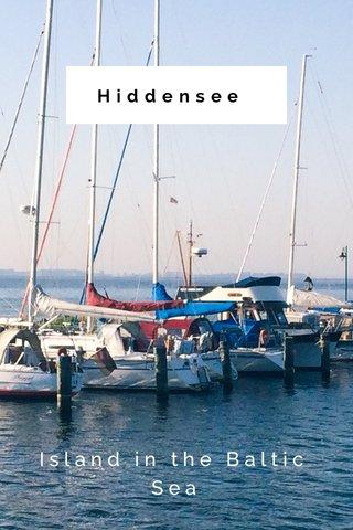 Hiddensee Island in the Baltic Sea