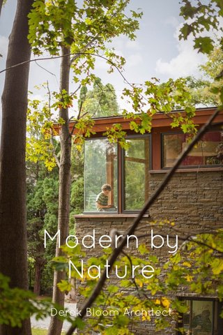 Modern by Nature Derek Bloom Architect