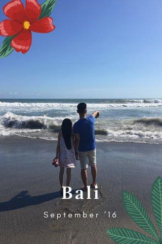 Bali September '16