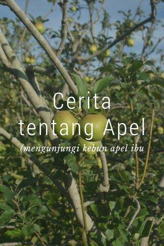 Cerita tentang Apel (mengunjungi kebun apel ibu Surati)