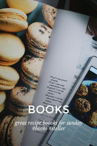 BOOKS great recipe boooks for sunday #books #steller