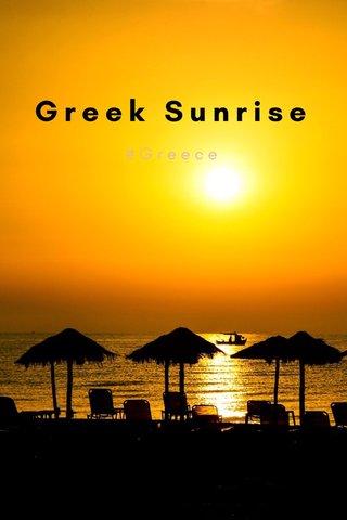 Greek Sunrise #Greece