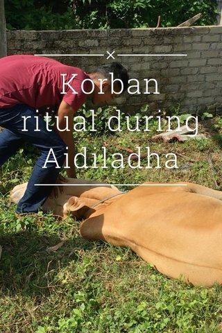 Korban ritual during Aidiladha