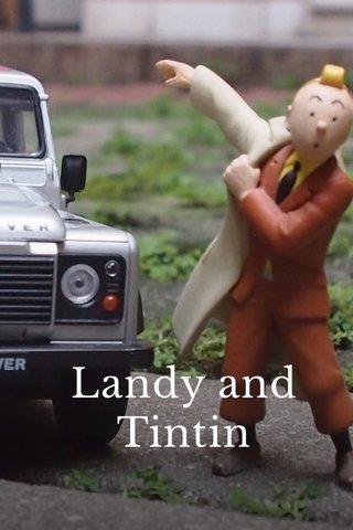 Landy and Tintin Memotret Miniatur