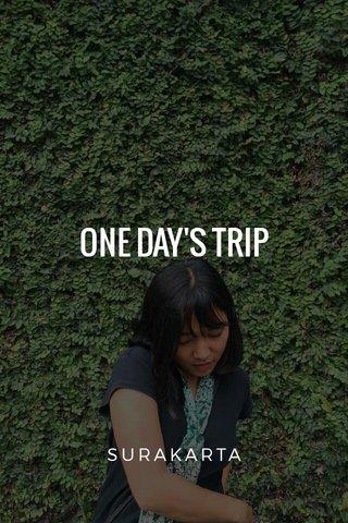 ONE DAY'S TRIP SURAKARTA