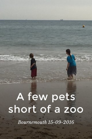 A few pets short of a zoo Bournemouth 15-09-2016