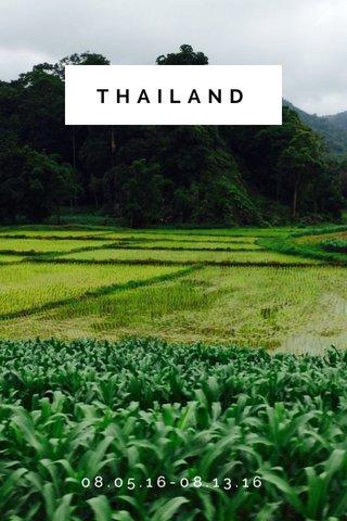 THAILAND 08.05.16-08.13.16