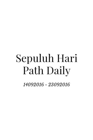 Sepuluh Hari Path Daily