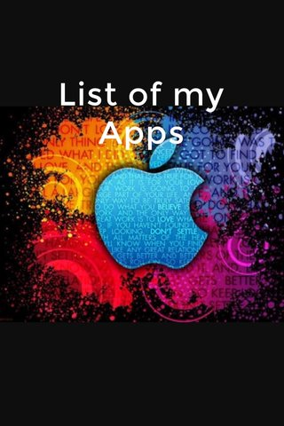 List of my Apps