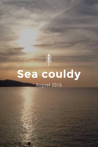 Sea couldy August 2016