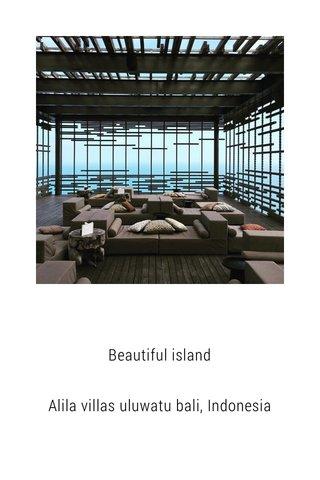 Beautiful island Alila villas uluwatu bali, Indonesia