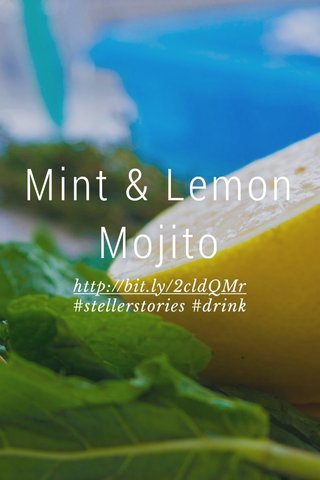 Mint & Lemon Mojito http://bit.ly/2cldQMr #stellerstories #drink
