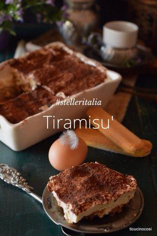 Tiramisu' #stelleritalia