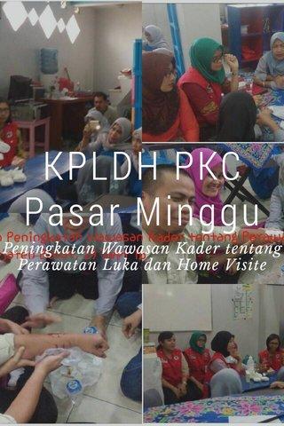 KPLDH PKC Pasar Minggu Peningkatan Wawasan Kader tentang Perawatan Luka dan Home Visite