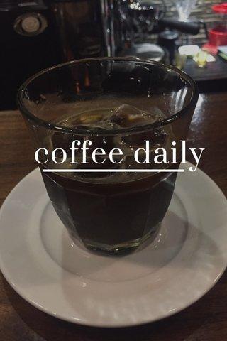 coffee daily