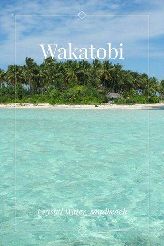 Wakatobi Crystal Water, sandbeach