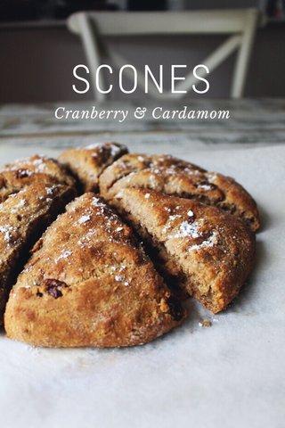SCONES Cranberry & Cardamom
