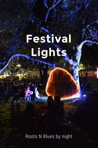 Festival Lights Roots N Blues by night