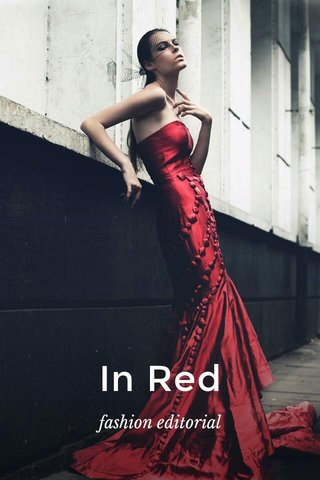 In Red fashion editorial