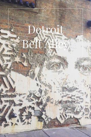 Detroit Belt Alley