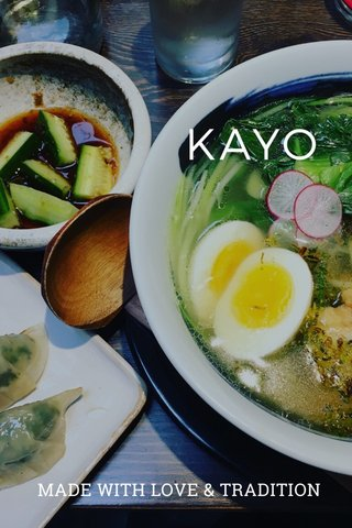 KAYO MADE WITH LOVE & TRADITION