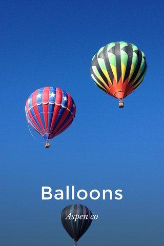 Balloons Aspen co
