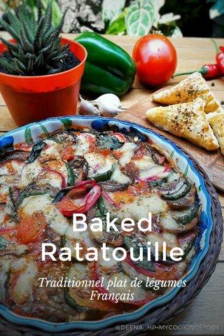 Baked Ratatouille Traditionnel plat de légumes Français