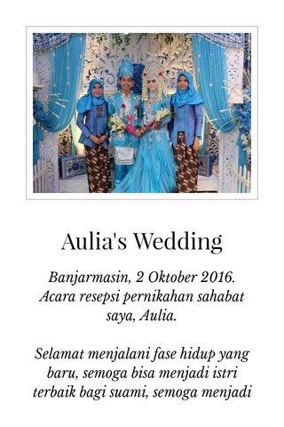 Aulia's Wedding