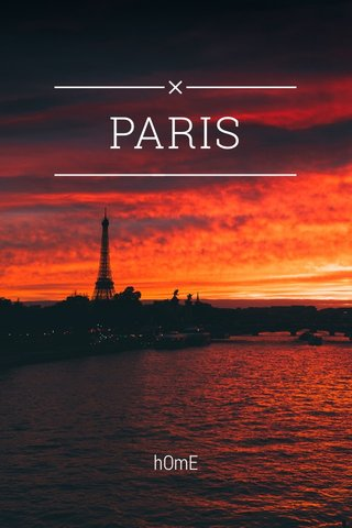 PARIS hOmE