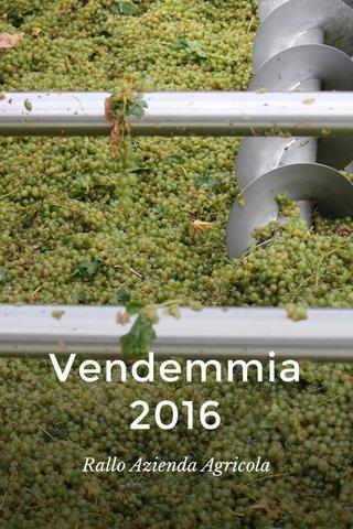 Vendemmia 2016 Rallo Azienda Agricola