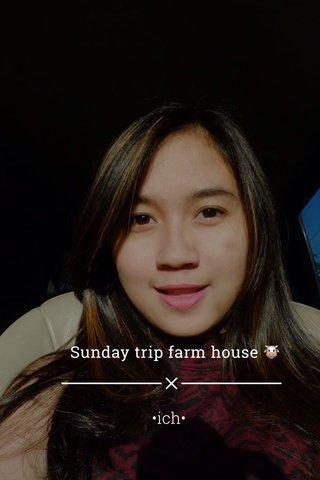 Sunday trip farm house 🐮 •ich•