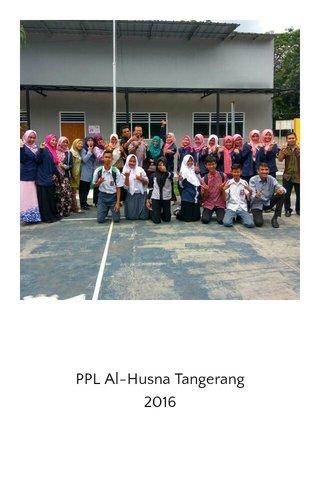 PPL Al-Husna Tangerang 2016