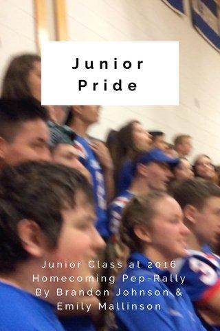 Junior Pride Junior Class at 2016 Homecoming Pep-Rally By Brandon Johnson & Emily Mallinson