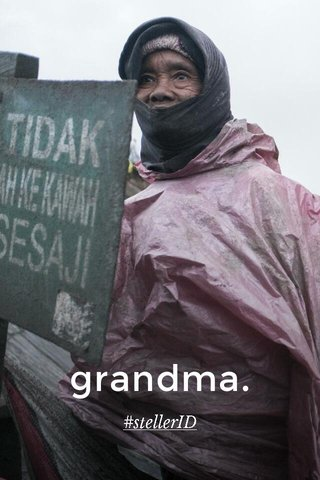grandma. #stellerID