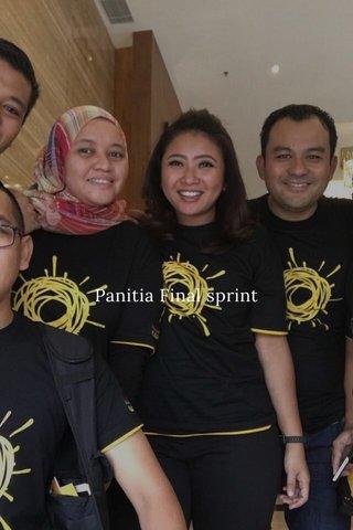 Panitia Final sprint