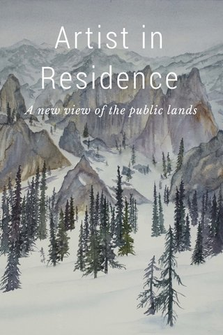 Artist in Residence A new view of the public lands