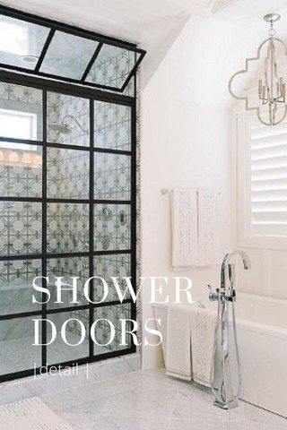 SHOWER DOORS |detail |