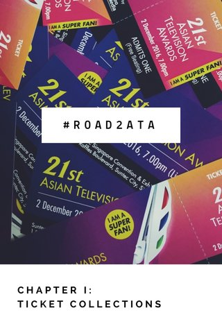 #ROAD2ATA CHAPTER I: TICKET COLLECTIONS