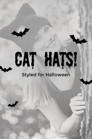 Cat Hats! Styled for Halloween